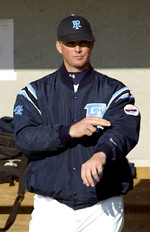 Rhode Island head coach Jim Foster