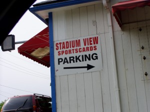 Sign at Stadium View Sports Cards