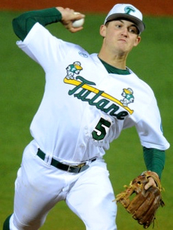 Tim Yandel - Tulane RHP action photo