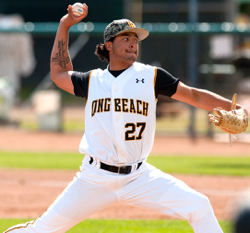 Freshman Chris Mathewson – who grew up 25 miles east of Long Beach, CA – tossed seven strong innings to front the first no-hitter in Long Beach State history, versus potential NCAA Tournament team Wichita State.