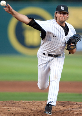 Long Beach State's Kyle Friedrichs posted a two-hit shutout in the 2–0 series opener at UC Santa Barbara.