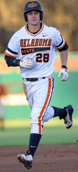 Oklahoma State Cowboys vs Texas Longhorns Baseball Game, Friday, April 3, 2015, Allie P. Reynolds Stadium, Stillwater, OK. Bruce Waterfield/OSU Athletics