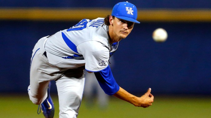 One year after not being ranked anywhere in the CB360 preseason Composite National Rankings, Kentucky (pictured: veteran ace Sean Hjelle) enters 2018 with its highest preseason ranking (CNR #8) in program history.
