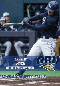 Andrew Pace, Oral Roberts