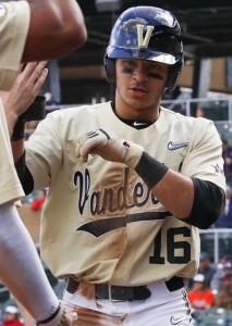 Vanderbilt second baseman Austin Martin