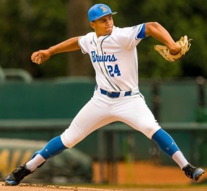 UCLA pitcher Zach Pettway